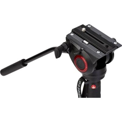 MANFROTTO MVMXPRO500 XPRO 4 SECTION VIDEO MONOPOD W FLUID HEAD & FLUIDTECH BASE