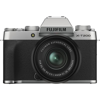 FUJIFILM X-T200 15-45MM MIRRORLESS CAMERA SILVER