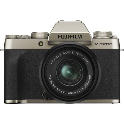 FUJIFILM X-T200 15-45MM MIRRORLESS CAMERA CHAMPAGNE GOLD