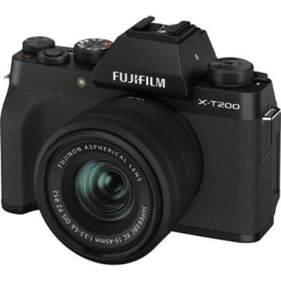FUJIFILM X-T200 15-45MM MIRRORLESS CAMERA BLACK