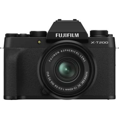 FUJIFILM X-T200 15-45MM MIRRORLESS CAMERA BLACK