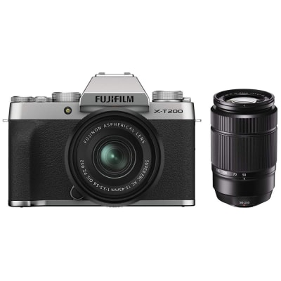FUJIFILM X-T200 COMBO 15-45MM AND 50-230MM LENS SILVER