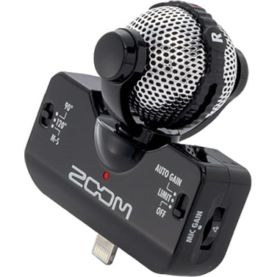 ZOOM IQ5 BLACK / WHITE PROFESSIONAL STEREO MICROPHONE