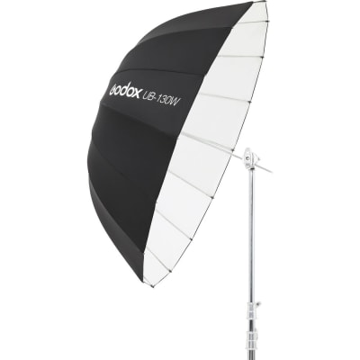 "GODOX UB-130W WHITE PARABOLIC UMBRELLA (51"")"