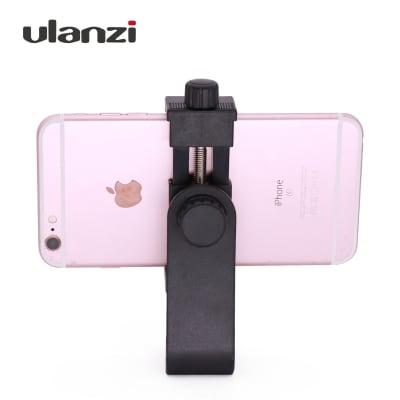 "ULANZI TRIPOD MOUNT/VERTICAL BRACKET SMARTPHONE HOLDER/PHONE CLIP CLIPPER TRIPOD ADAPTER FOR IPHONE SAMSUNG SMART PHONES 2-1/4-3-5/8"" WIDE (MOUNT ADAPTER)"