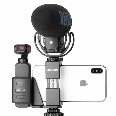 ULANZI OP-1 OSMO POCKET ACCESSORIES - METAL MOBILE PHONE HOLDER MOUNT SET FIXED STAND BRACKET COMPATIBLE WITH DJI OSMO POCKET CAMERA