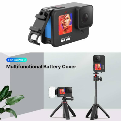 ULANZI G9-6 MULTIFUNCTION BATTERY COVER DOOR FOR GOPRO HERO9 BLACK WITH COLD SHOE MOUNT & OPEN PORT FOR CAMERA CHARGING