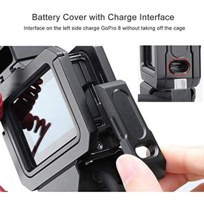 ULANZI G8-5 CAMERA METAL CAGE FOR GOPRO HERO 8 VLOG DUAL COLD SHOE FOR MICROPHONE LED LIGHT ACTION CAMERA ACCESSORIES (BLACK)