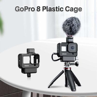 ULANZI G8-9 PLASTIC VLOG CASE FOR GOPRO 8 COLD SHOE MOUNT 52MM FILTER ADAPTER RING BATTERY MIC ADAPTER FOR GOPRO 8 VLOG