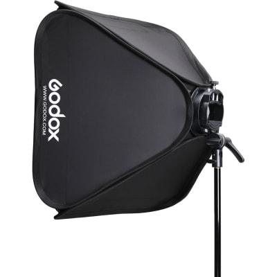 "GODOX SGGV6060 S2 BOWENS MOUNT BRACKET WITH SOFTBOX, GRID & CARRYING BAG KIT (23.6 X 23.6"")"