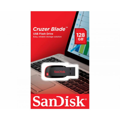 SANDISK 128GB CRUZER BLADE PENDRIVE