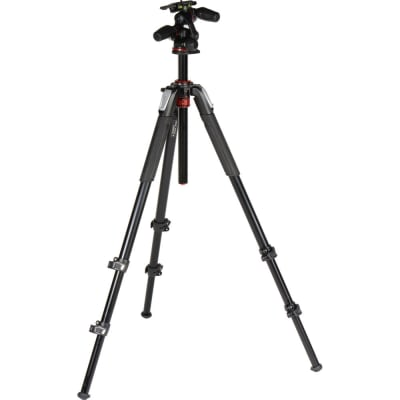 MANFROTTO MK055XPRO3-3W 055 KIT - ALU 3-SECTION HORIZ. COLUMN TRIPOD WITH HEAD