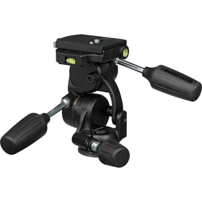 MANFROTTO 808RC4 3-WAY PAN/TILT TRIPOD HEAD WITH RC4 QUICK RELEASE PLATE