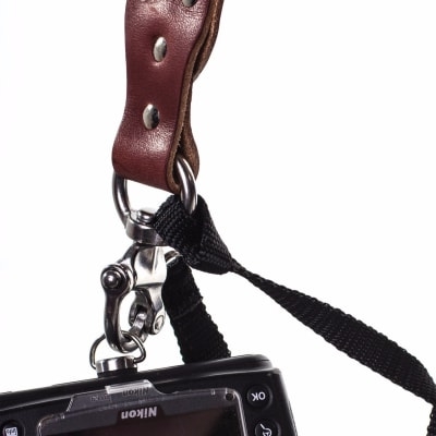 HOLD FAST MONKEY MAKER BRIDLE LEATHER - 2 CAMERA HARNESS / CHESTNUT / MEDIUM
