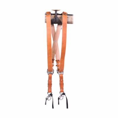 HOLD FAST MONKEY MAKER BRIDLE LEATHER - 2 CAMERA HARNESS / TAN / LARGE