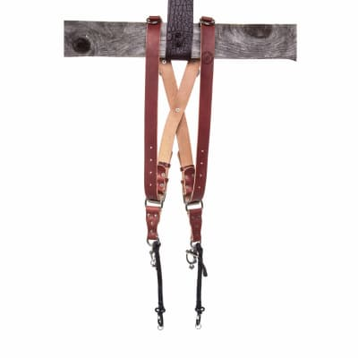 HOLD FAST MONKEY MAKER BRIDLE LEATHER - 2 CAMERA HARNESS / CHESTNUT / LARGE