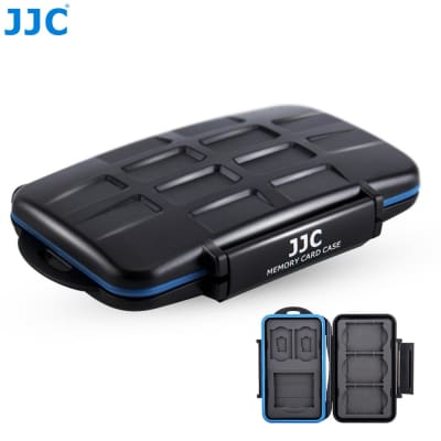 JJC MC-2 WATERPROOF EXTREMELY TOUGH MEMORY CARD CASE FOR 4 CF CARDS OR 8 SD CARDS