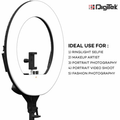 DIGITEK DRL-18 H 18 INCH PROFESSIONAL LED RING LIGHT (WITHOUT STAND)