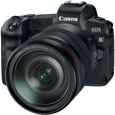 CANON EOS R WITH 24-105MM F/4 L IS USM AND MOUNT ADAPTER