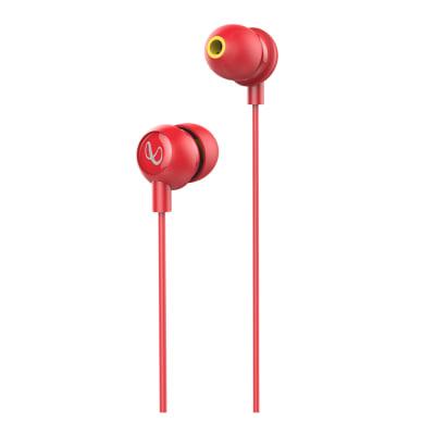 INFINITY WYND 220 IN-EAR DEEP BASS HEADPHONES WITH MIC RED BY HARMAN JBL