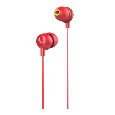 INFINITY WYND 220 IN-EAR DEEP BASS HEADPHONES WITH MIC RED BY HARMAN JBL