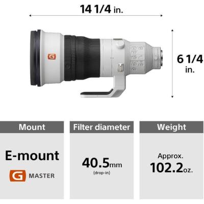SONY 400MM F2.8 GM OSS FE