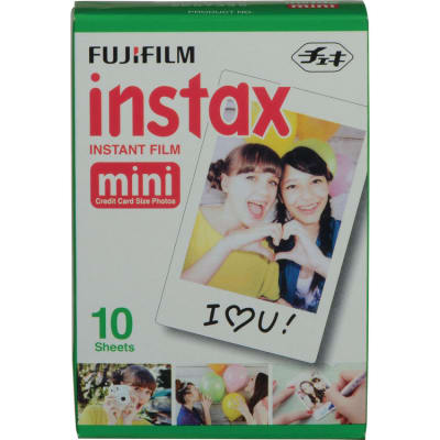 FUJIFILM INSTAX MINI SINGLE PACK 10 SHEETS INSTANT FILM FOR FUJI INSTANT CAMERAS