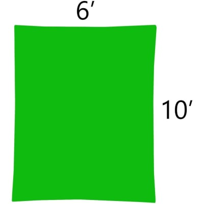 RELIABLE 6X10 CHROMAKEY GREEN CLOTH BACKGROUND (6FT X 10FT)
