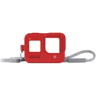 GOPRO SLEEVE + LANYARD (HERO8 BLACK) (RED) AJSST-008