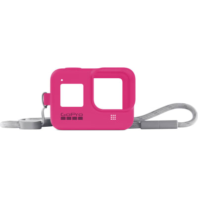GOPRO SLEEVE + LANYARD (HERO8 BLACK) (ELECTRIC PINK) AJSST-007