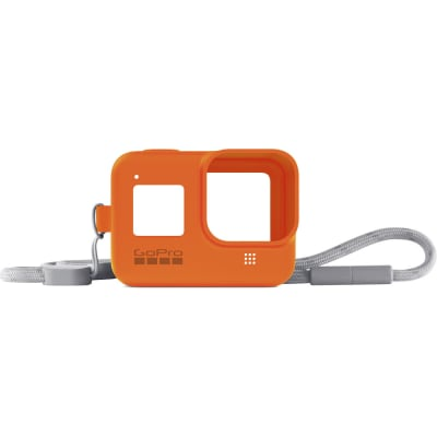 GOPRO SLEEVE + LANYARD (HERO8 BLACK) (ORANGE) AJSST-004