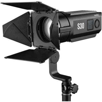 GODOX S30 LED FOCUSING LIGHT WITH BARNDOOR