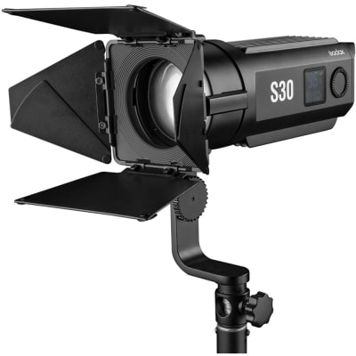 GODOX S30 LED FOCUSING LIGHT WITH BARNDOOR