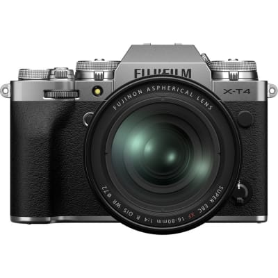 FUJIFILM X T4 MIRRORLESS DIGITAL CAMERA WITH 16-80MM LENS (SILVER)