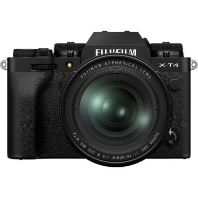 FUJIFILM X T4 MIRRORLESS DIGITAL CAMERA WITH 16-80MM LENS (BLACK)