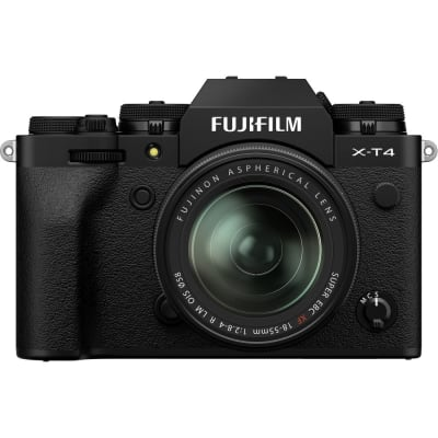 FUJIFILM X T4 MIRRORLESS DIGITAL CAMERA WITH 18-55MM LENS (BLACK)