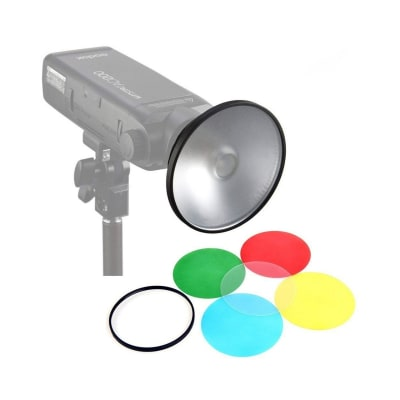 GODOX AD M REFLECTOR KIT WITH 4 COLOR GELS FOR AD200/ AD360/ AD360 II