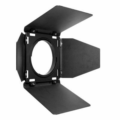 GODOX BD 08 BARN DOOR KIT WITH HONEYCOMB GRID AND 4 X GELS FOR AD400 PRO