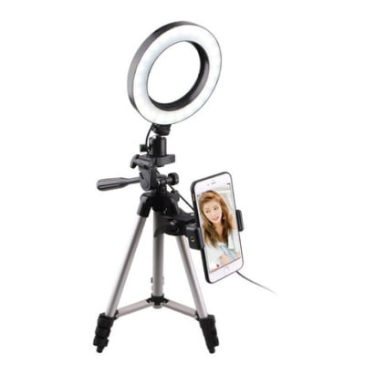 DIGITEK DRL6  H 6 INCHS PROFESSIONAL LED RING LIGHT COMBO (WITH TRIPOD STAND)
