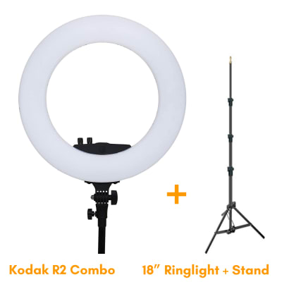KODAK R2 18 INCHES LED RING LIGHT WITH STAND (COMBO)