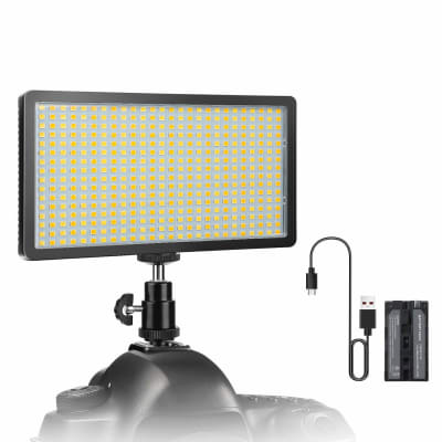 DIGITEK LED PROFESSIONAL VIDEO LIGHT & NP-750 LI-ION BATTERY WITH MICRO USB CHARGING (LED 416 COMBO)