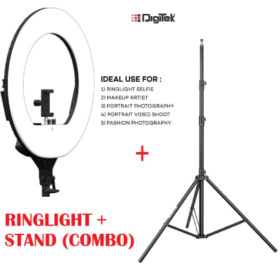 DIGITEK DRL-18 H 18 INCH PROFESSIONAL LED RING LIGHT WITH STAND (COMBO)