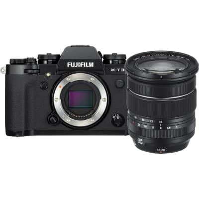 FUJIFILM X-T3 WITH 16-80MM LENS KIT MIRRORLESS DIGITAL CAMERA (BLACK)