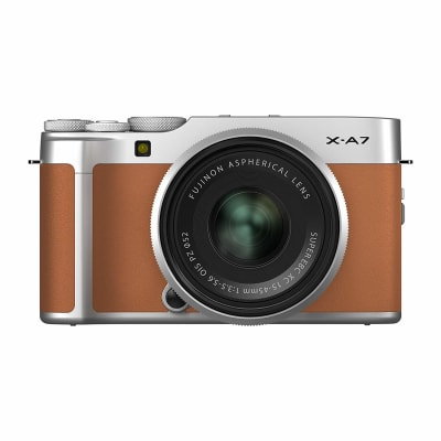 Fujifilm X-A7 Mirrorless Digital Camera with 15-45mm Lens (Camel)