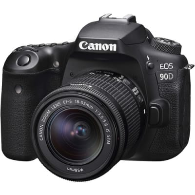CANON 90D WITH 18-55MM LENS