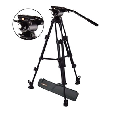 E-IMAGE EG03AB 6FT GENTING VIDEO TRIPOD STAND KIT (GH03 FLUID HEAD + AT7402A TRIPOD LEG)