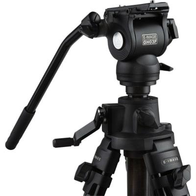 E-IMAGE EG03FA3 8FT VIDEO RISING COLUMN PROFESSIONAL TRIPOD STAND KIT WITH FLUID HEAD
