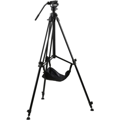 E-IMAGE EG03FA3 8FT VIDEO RISING COLUMN PROFESSIONAL TRIPOD STAND KIT WITH FLUID HEAD