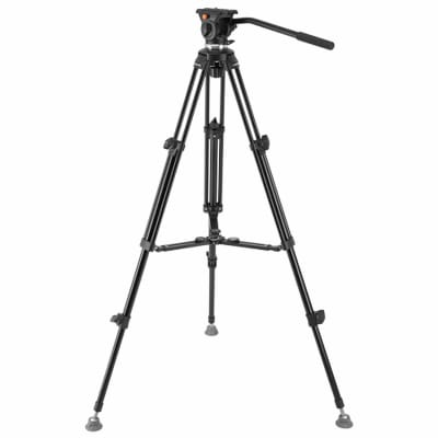 E-IMAGE EK610 5.5FT PROFESSIONAL TRIPOD STAND KIT WITH FLUID HEAD