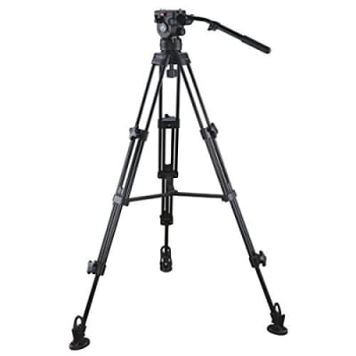 E-IMAGE 7063 ALUMINUMTRIPOD KIT WITH FLUID VIDEO HEAD